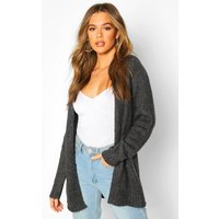 Womens Pocket Detail Edge To Edge Cardigan - grey - XS, Grey