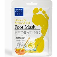 Womens Escenti Cool Feet Honey & Almond Foot Mask - White - One Size, White