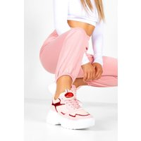 Womens Holographic Panel Chunky Sole Trainers - Pink - 7, Pink