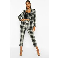 Womens Tartan Check Trouser - black - 10, Black