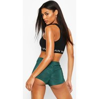 Womens Ruched Bum Booty Boosting Cycling Shorts - green - 10, Green