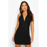 Womens Boutique Bandage Cross Front Mini Dress - black - 10, Black