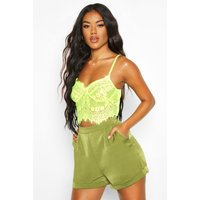 Womens Tailored Short - Green - L, Green