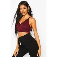 Womens Ringer Detail Cup Bralet - red - 6, Red