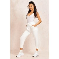 Womens The Cropped Loopback Jogger - white - 12, White
