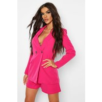 Womens Tailored Double Breasted Blazer - Pink - 8, Pink