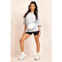 Womens Basic Turn Cuff Boxy Sweat - grey - XL, Grey