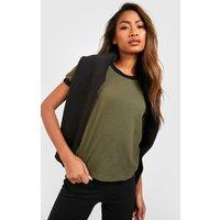 Womens Cotton Ringer T-Shirt - green - 18, Green