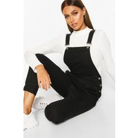 Womens Slim Fit Denim Dungaree - black - 8, Black