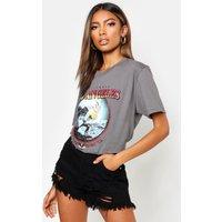 Womens Los Angeles Slogan Surf T-Shirt - grey - M, Grey