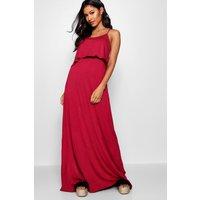 Womens Tie Back Maxi Dress - pink - 10, Pink