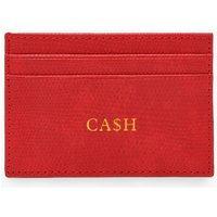 Womens PU Cash Foil Card Holder - red - One Size, Red
