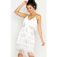 All Over Tassle Sheer Lace Midi Dress