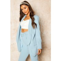 Womens Tailored Blazer - Blue - 16, Blue