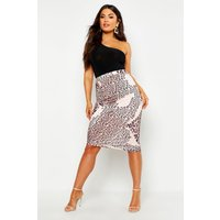 Slinky Mixed Leopard Print Wrap Mini Skirt