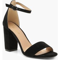 Womens Wide Fit Block Heel 2 Parts - black - 7, Black