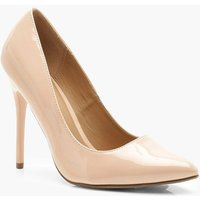 Womens Wide Fit Stiletto Heel Court Shoes - Beige - 3, Beige
