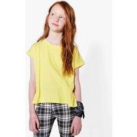 Side Rouche Hem T-Shirt - yellow