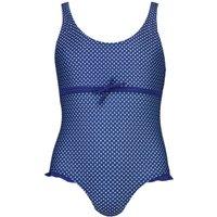 Polka Dot Swimsuit - navy