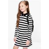 Striped Collar Dress - multi