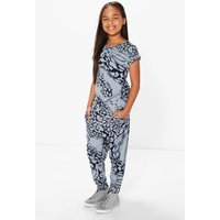 Printed Animal Jumpsuit - grey