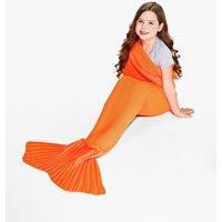 Mermaid Tail Blanket - neon-orange