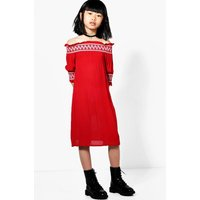 Smocked Summer Dress - red