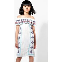 Embroidered Summer Dress - ivory