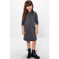 Hooded Sweat Dress - grey