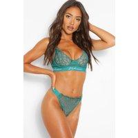 Womens Woman Tape Lace Underwire Bra - Green - 32B, Green