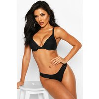 Stripe Caged Side Thong, Negro