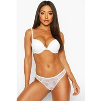 Womens Mix & Match Lace Cheeky Brazilian - white - L, White