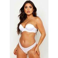 Womens Super Push Up Strapless Bra - white - 32B, White