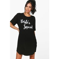 Womens Bride's Squad Sleep Tee - black - S, Black