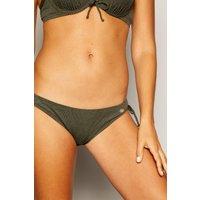 Jacquard Tie Side Bikini Bottoms
