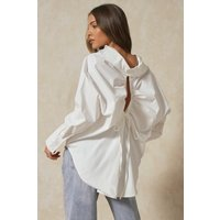 Tia Oversized Ruched Cut Out Back Shirt