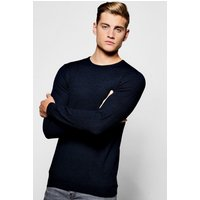 Crew Neck Jumper - navy