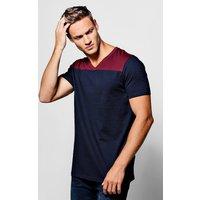 Colour Block T-Shirt - navy