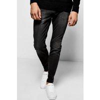 Wash Stretch Skinny Jeans - grey