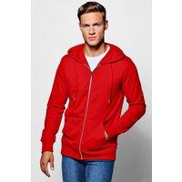 Zip Through Hoodie - red