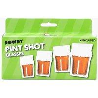 Pack Pint Shot Glasses - clear