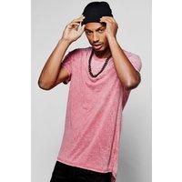 Burnout T-Shirt - burgundy