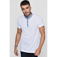 Collar Jersey Polo - white