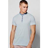Collar Jersey Polo - blue