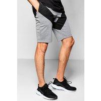 Panel Jersey Shorts - grey