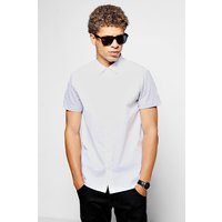 Contrast Jersey Short Sleeve Shirt - white