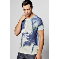 Ibiza Palm Print T Shirt - multi