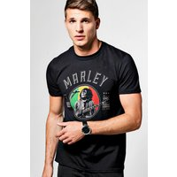 Emblem Bob Marley T Shirt - black