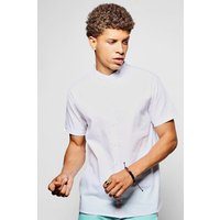 Sleeve Grandad Collar Shirt - white