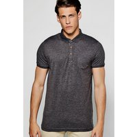 Pocket Short Sleeve Jersey Polo - charcoal